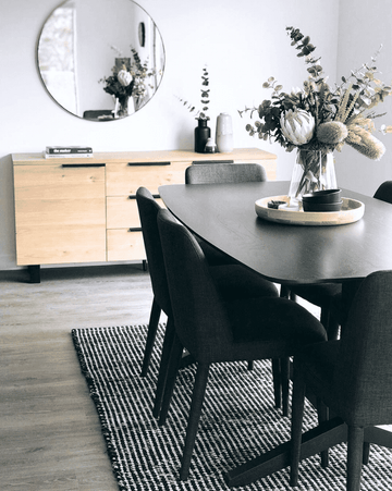 Simple Style Co: Skandi Felted Wool Rug Black | Shop Scandi Rugs Australia