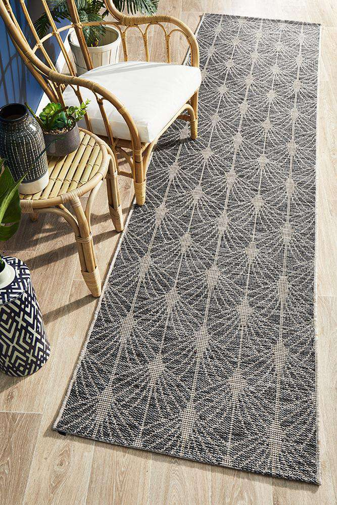 Rethymno Outdoor Runner Black | Outdoor Runners | AfterPay Rugs