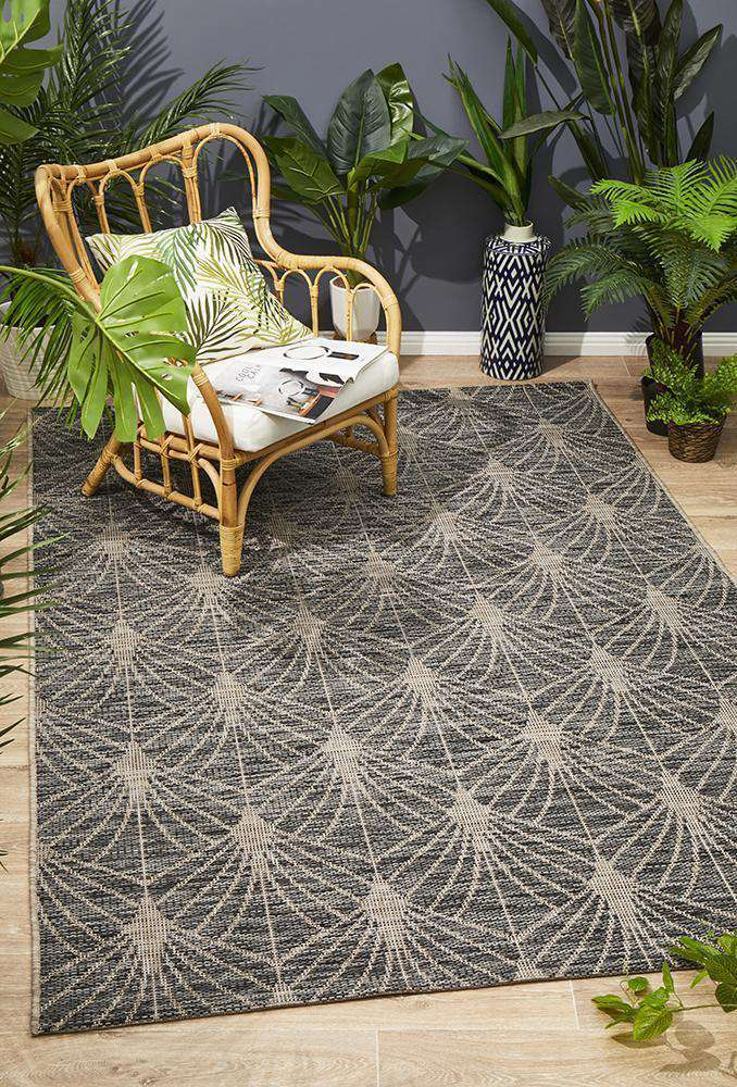 Rethymno Outdoor Rug Black | Outdoor Rugs | AfterPay Rugs | Free Delivery
