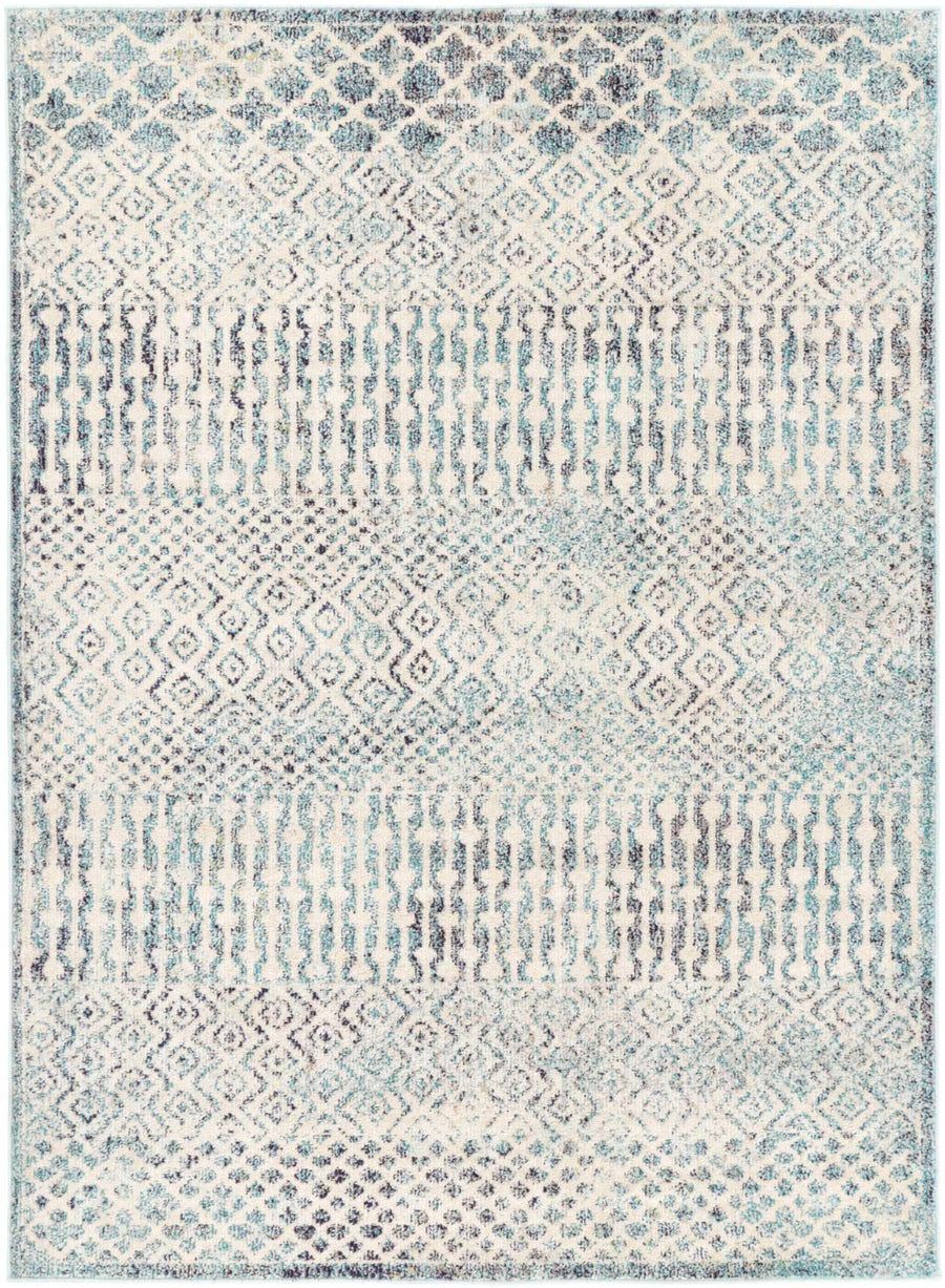 Micah Multi Blue Geometric Rug - Simple Style Co