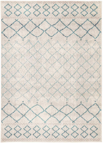 Micah Blue Lattice Rug