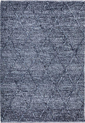 Willow Charcoal Diamond Felted Wool Rug - Simple Style Co