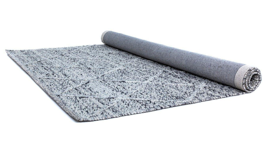 Willow Grey Diamond Felted Wool Rug - Simple Style Co