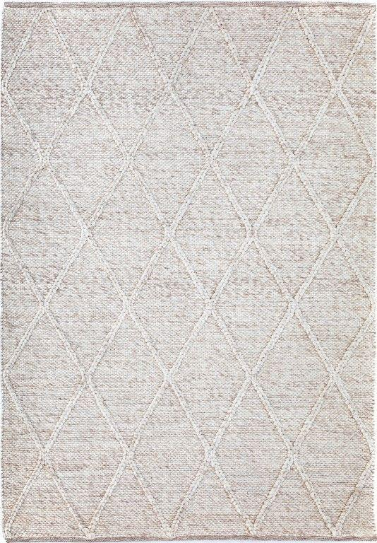 Willow Diamond Felted Wool Rug - Beige
