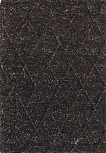Willow Diamond Felted Wool Rug - Graphite