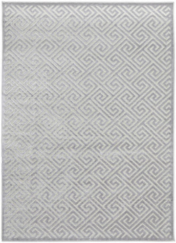 Alice Geometric Silver Rug - Simple Style Co