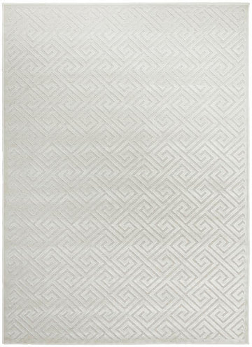 Alice Natural White Geometric Rug - Simple Style Co