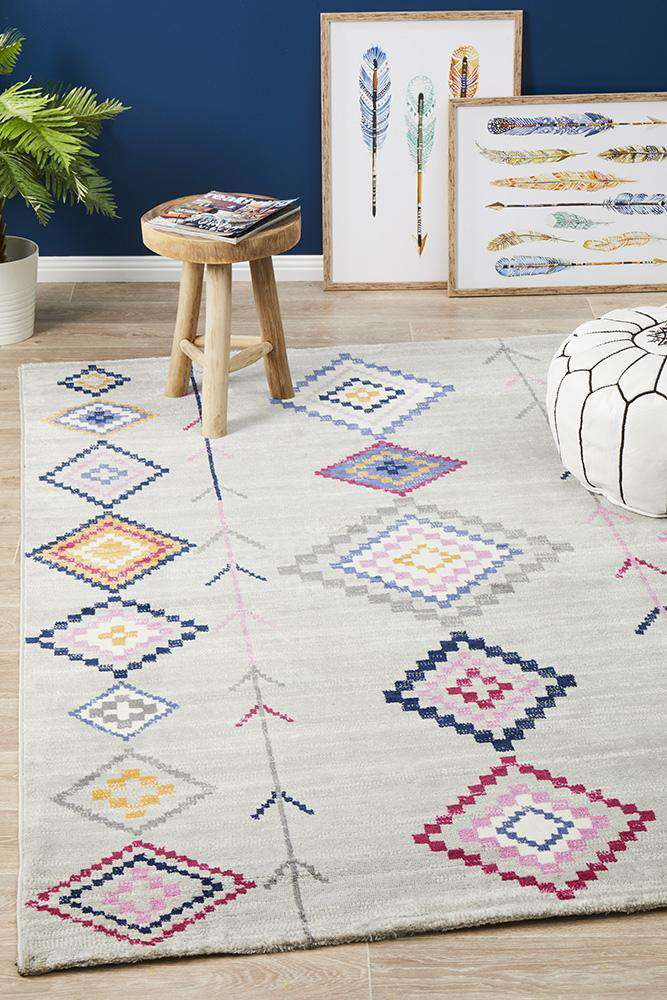 Simple Style Co: Belleville Eclectic Rug Silver | Buy Rugs Online