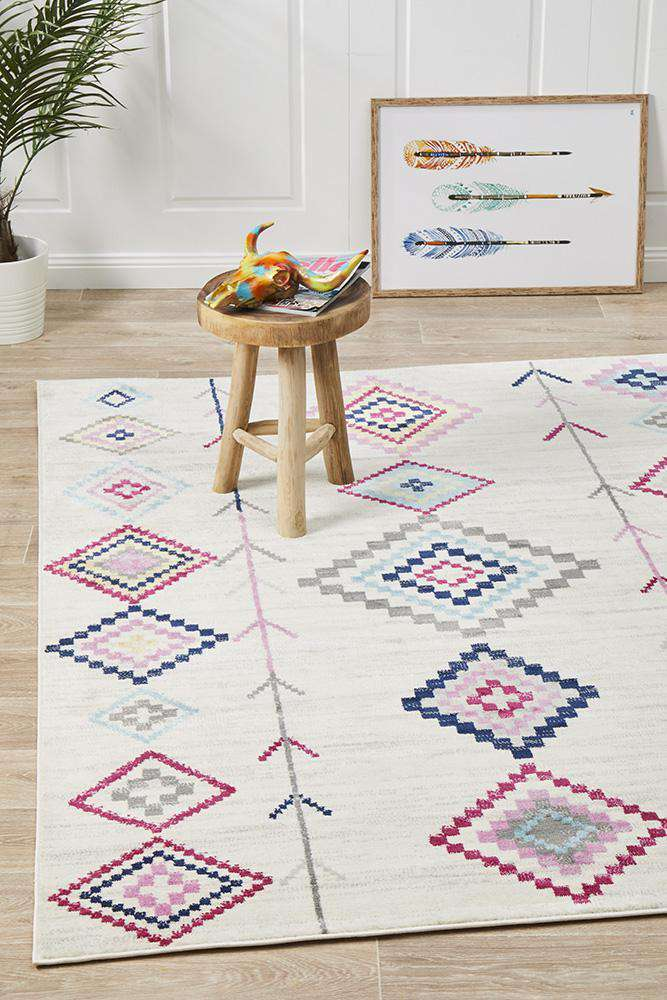 Belleville Eclectic White Rug - Simple Style Co