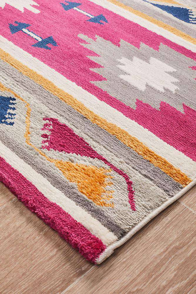 Simple Style Co: Tulum Oriental Rug Pink | Shop Rugs Online Australia