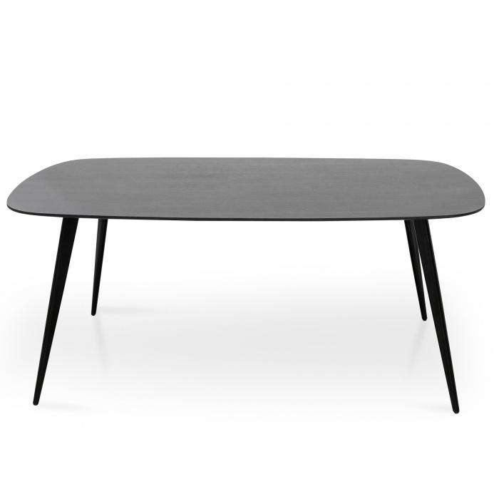 Maxwell 1.8m Dining Table - Black - Simple Style Co
