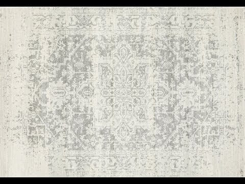 Bafra Grey & Ivory Distressed Transitional Rug - Simple Style Co