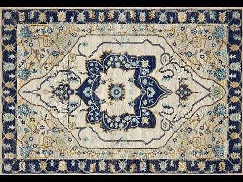 Erdek Navy Medallion Runner Rug