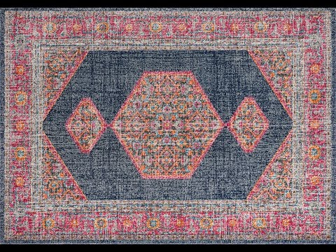 Edessa Navy Traditional Rug
