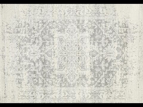Bafra Distressed Grey & Ivory Transitional Runner Rug