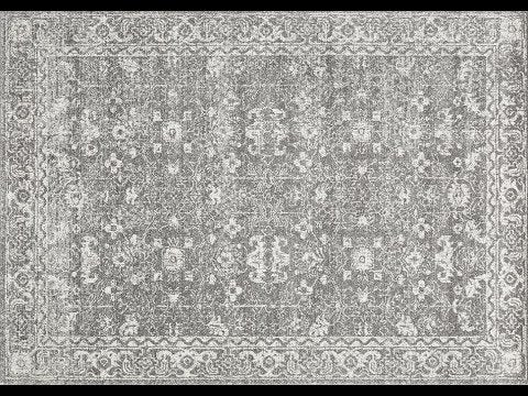 Estella Silver Transitional Runner Rug