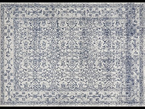 Formosa White Grey & Blue Transitional Runner