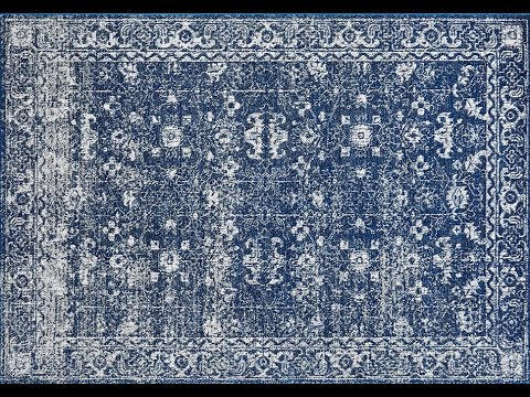Estella Navy Transitional Runner Rug