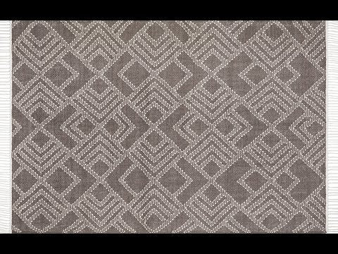 Denver Warm Grey Wool Rug (Clearance)