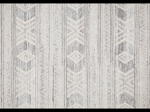 Esha Grey Tribal Wool Rug