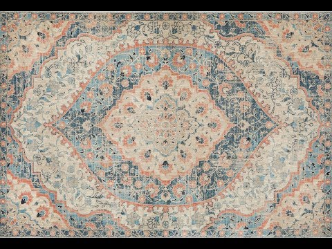 Dalila Blue Traditional Runner Rug