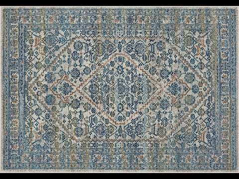 Rimini Blue & Grey Transitional Hallway Runner - Simple Style Co