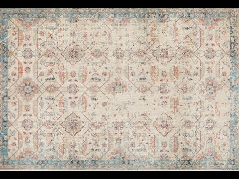 Aziza Beige & Blue Transitional Rug