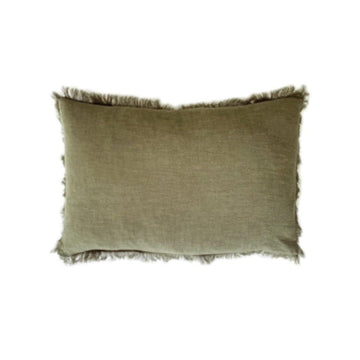 Feather & Oak Ramie Olive Lumbar Cushion - Simple Style Co