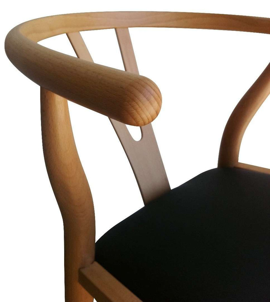 Wishbone Dining Chair - Natural/Black