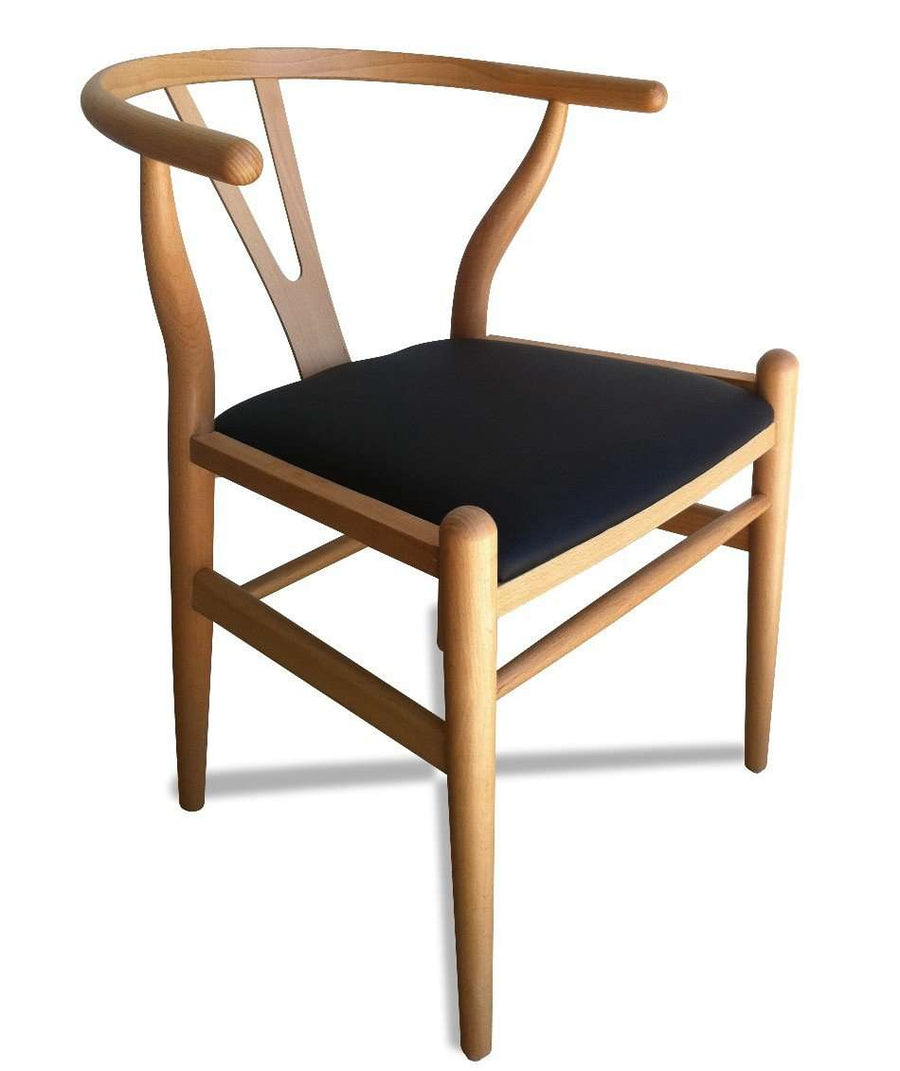 Wishbone Dining Chair Natural Black | Simple Style Co