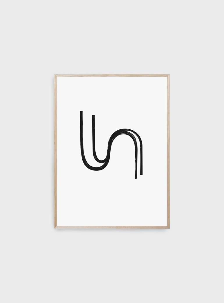 The Print Supply: Lines Art Print | Simple Style Co