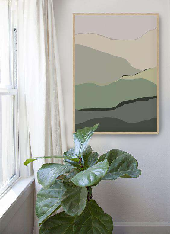 The Print Supply: Mountain Ranges Art Print | Simple Style Co