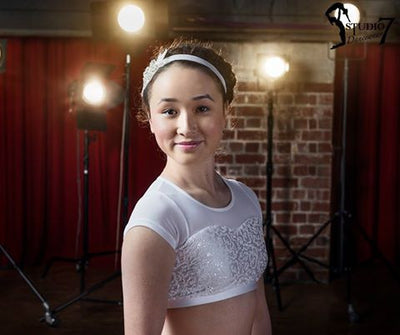 STUDIO 7 ATTITUDE SEQUIN CROP TOP CHCT08 CHILD SIZES
