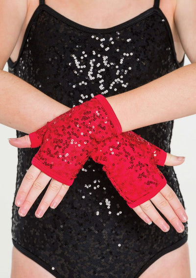 STUDIO 7 SEQUIN FINGERLESS GLOVES ACC05