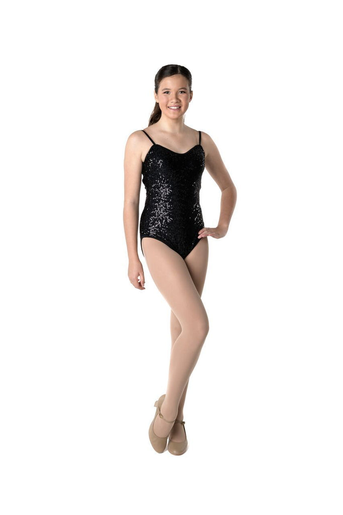 STUDIO 7 SEQUIN CAMISOLE LEOTARD CHL02