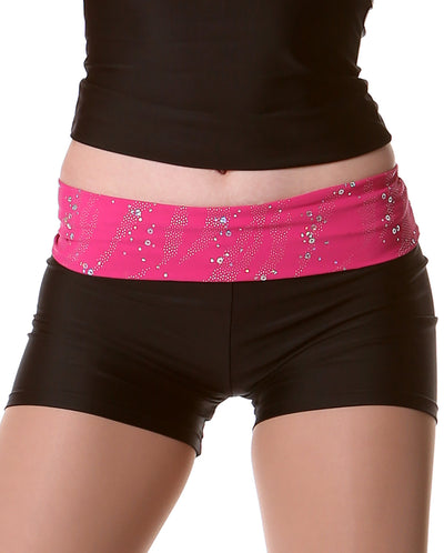 STUDIO 7 GLITTER ROLL TOP SHORTS ADS03