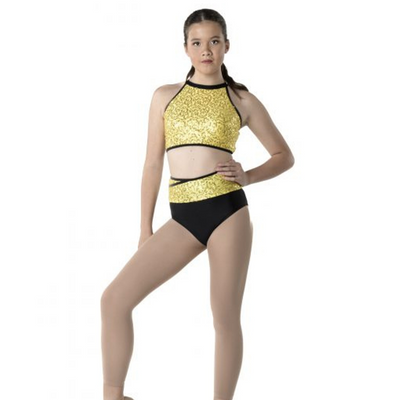STUDIO 7 DANCEWEAR BRIGHT LIGHTS TWO TONED BRIEF CHS10 ADS10