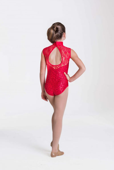 STUDIO 7 ADULTS DECO LACE LEOTARD ADL03