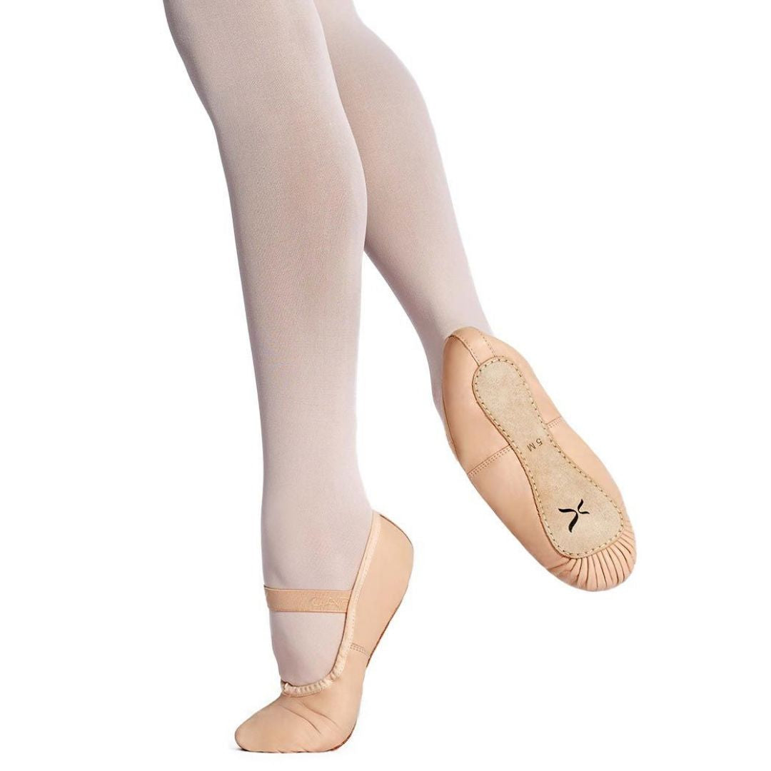 U209W Clara ballet shoe slipper adult single strap full sole