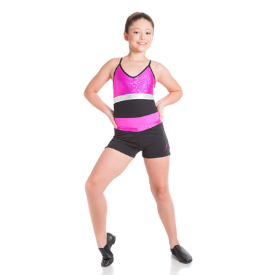 ENERGETIKS SPLICED SHATTERED GLASS TRIPLE STRAP LEOTARD GCL104