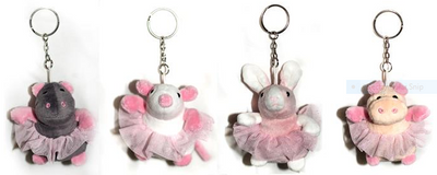 Mad Ally Ballerina Buddie Key Rings