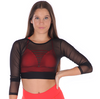 COSI G MARQUEE MESH CROP TOP