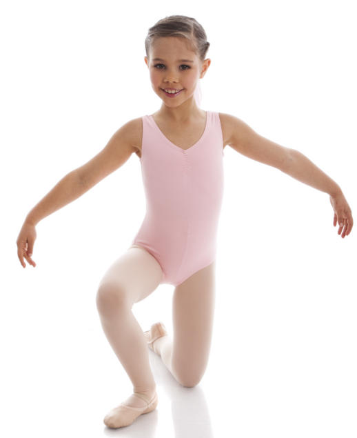 ENERGETIKS CHARLOTTE GATHERED FRONT LEOTARD CHILD CL04