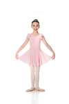 TCD01 STUDIO 7 CAP SLEEVE CHIFFON DRESS BALLET PINK