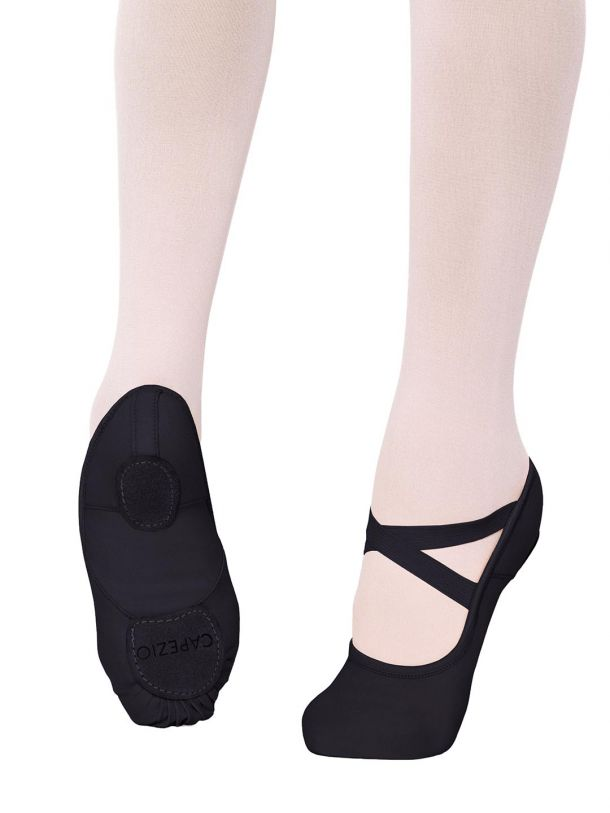 CAPEZIO HANAMI STRETCH CANVAS BALLET SHOE 2037W  BLACK