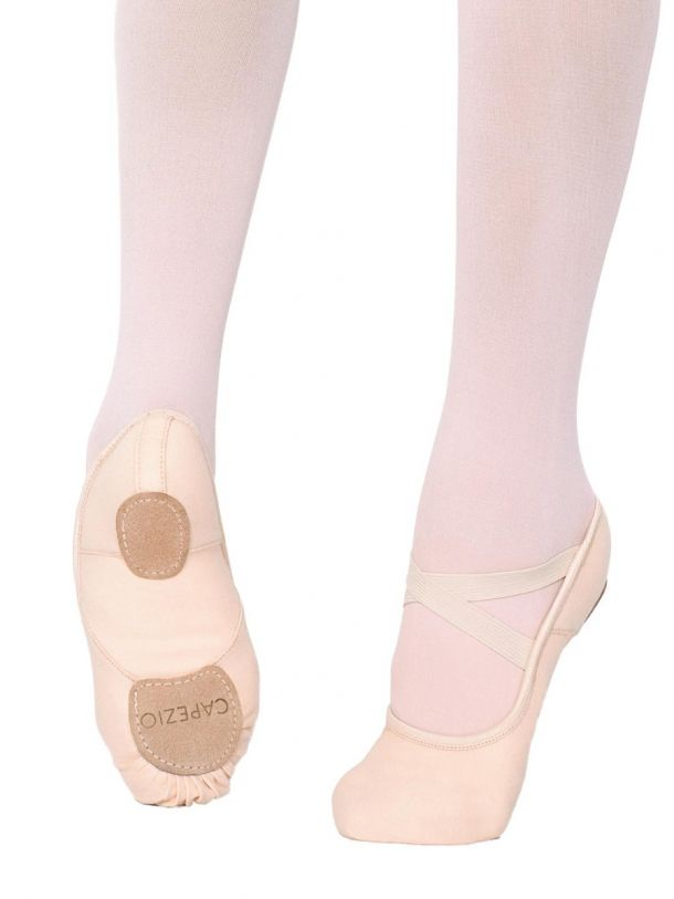CAPEZIO HANAMI STRETCH CANVAS BALLET SHOE 2037W  LIGHT PINK