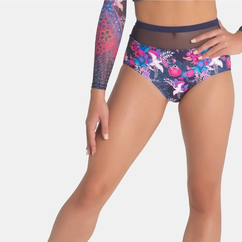 SYLVIA P DANCING CRANES BRIEF - KIMONO KISSES COLLECTION