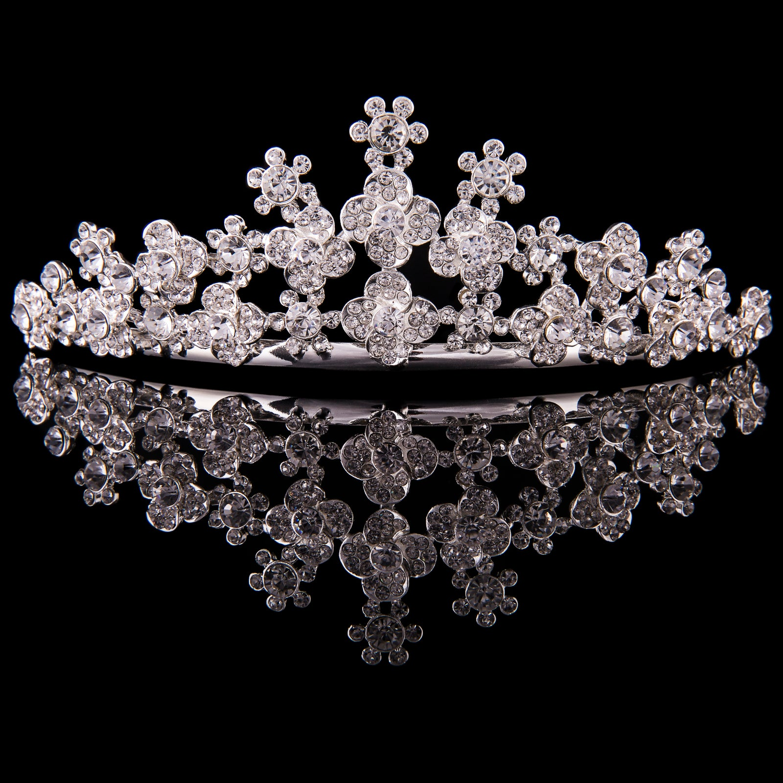 MAD ALLY LARGE FLORAL TIARA H35958