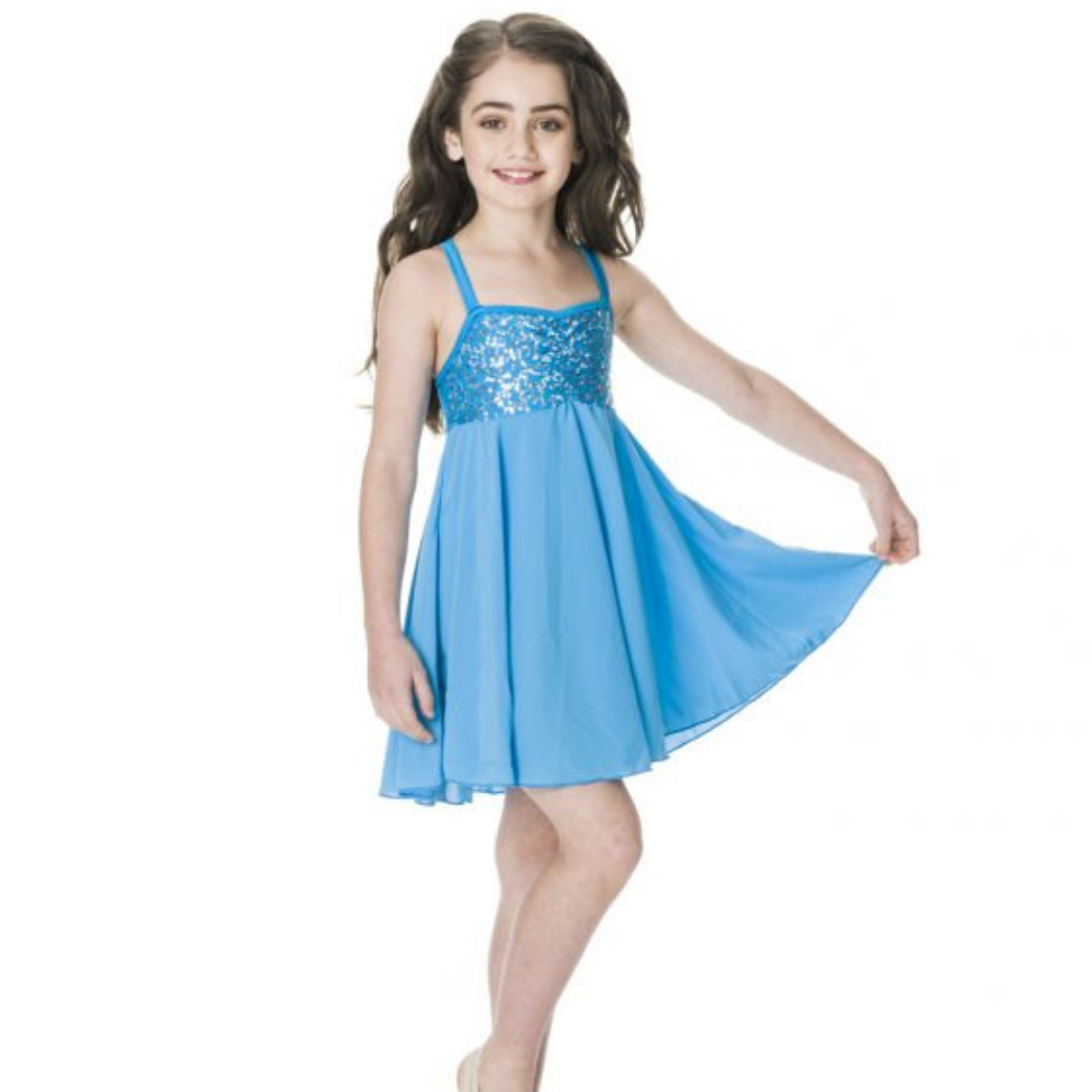 STUDIO 7 SEQUIN LYRICAL DRESS CHILD CHD05