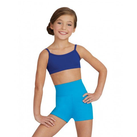 CAPEZIO TEAM BASICS HIGH WAISTED GUSSET SHORT CHILD TB131C